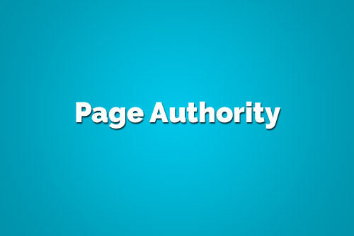 MOZ Page Authority